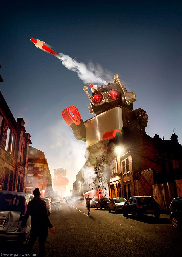 Robots creative image by Birmingham advertising photographer Paul Ward