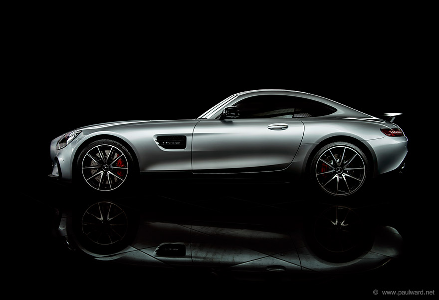 Mercedes AMG GTS photography by Birmingham car photographer Paul Ward