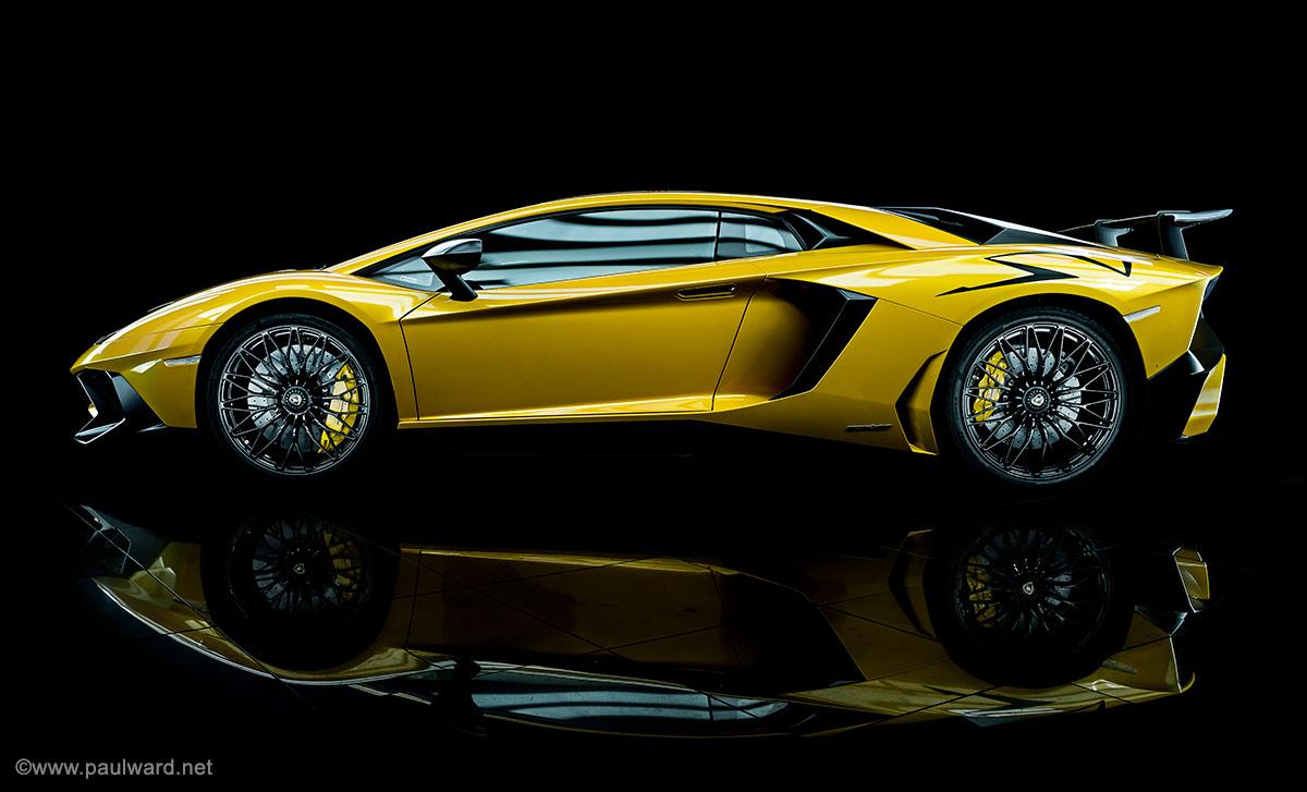 Lamborghini Aventador sv by Birmingham car photographer Paul Ward