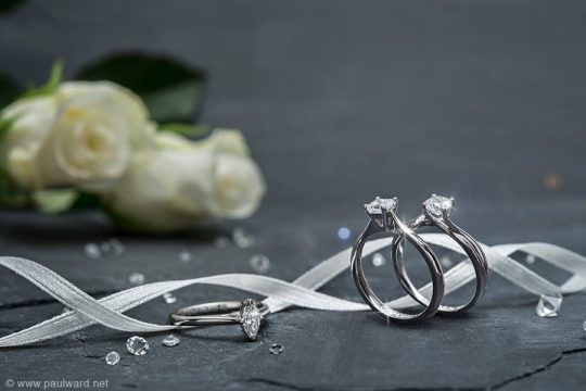 Jewellery photography for T H Baker