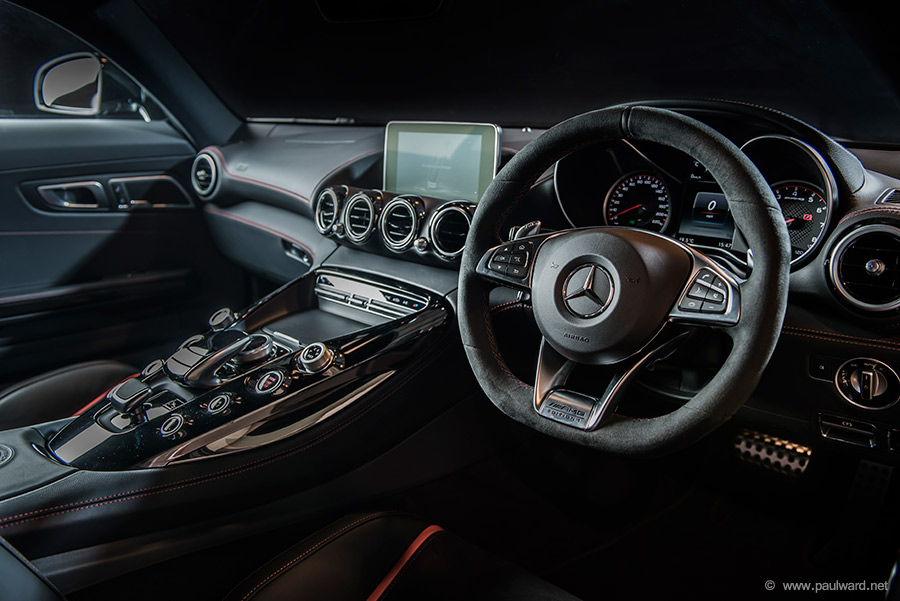Mercedes interior photography by Birmingham car photographer Paul Ward