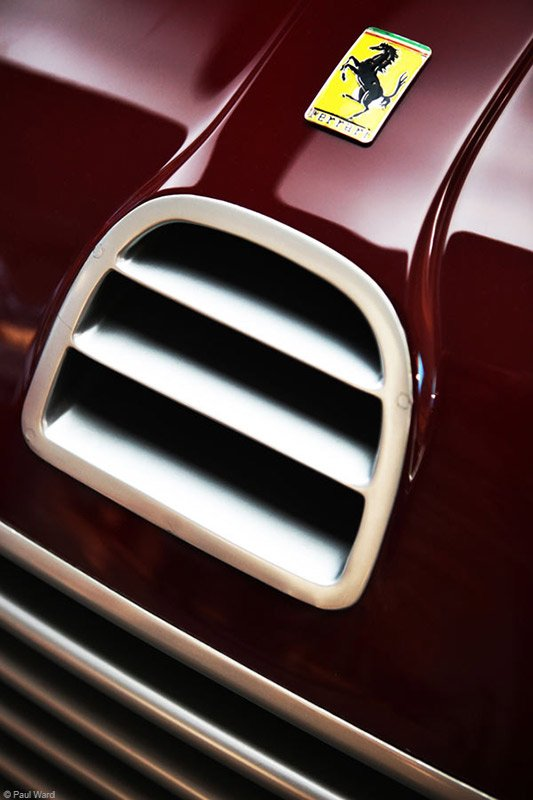 Ferrari 125s badge by Birmingham car photographer Paul Ward