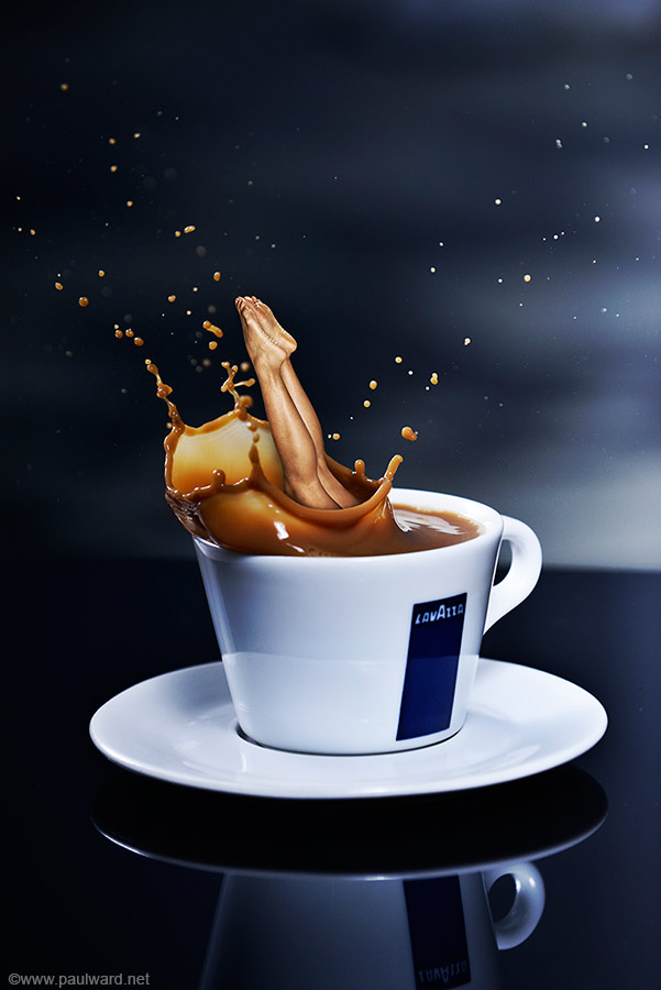 Lavazza Coffee advert idea photography by Birmingham photographer Paul Ward