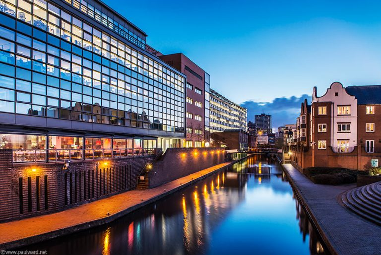 Canal by Birmingham architectural photographer Paul Ward