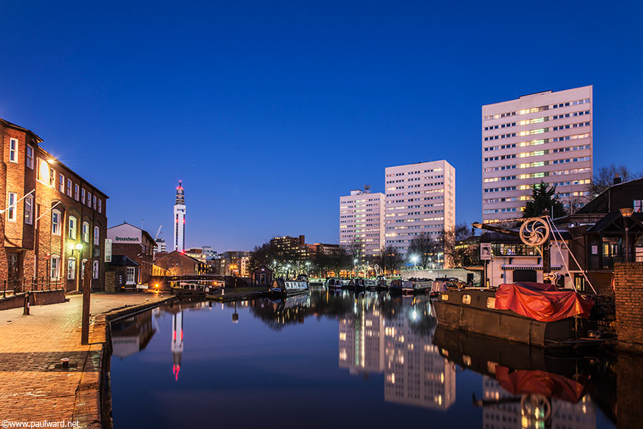 Birmingham canals by architectural photographer Paul Ward