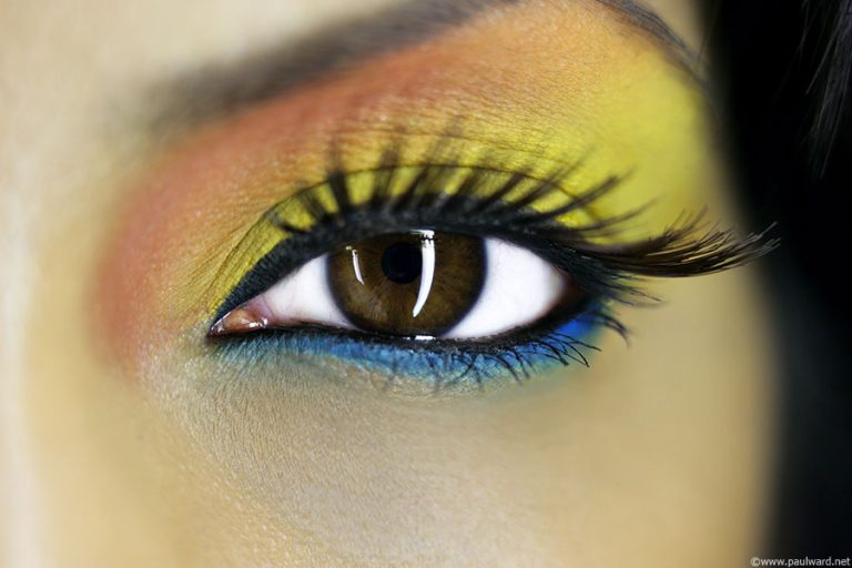 Eye makeup portfolio shoot by birmingham photographer Paul Ward