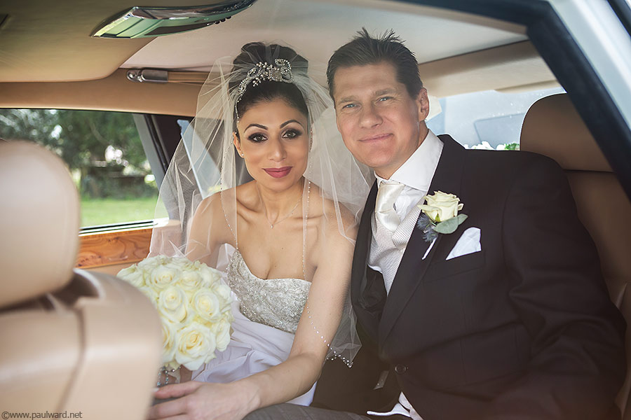 Bride and Groom by Birmingham wedding photographer Paul Ward