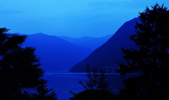 Lake como dusk by Birmingham travel photographer Paul Ward
