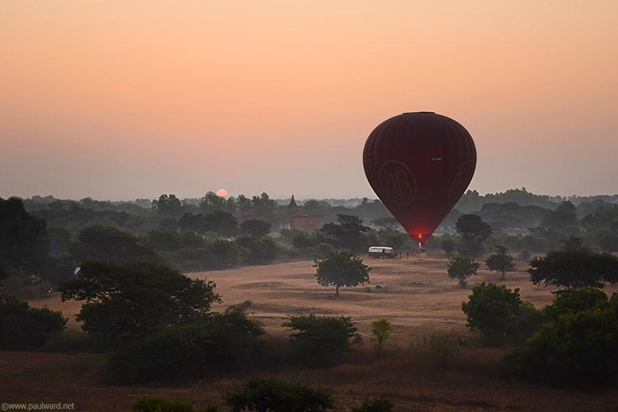 balloon over Myanmar
