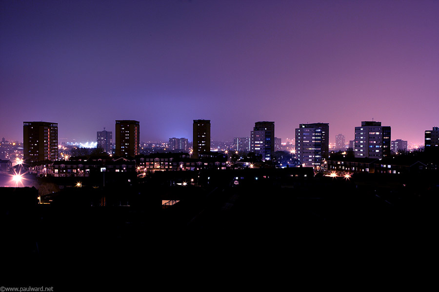 Birmingham skyline by architectural photographer Paul Ward