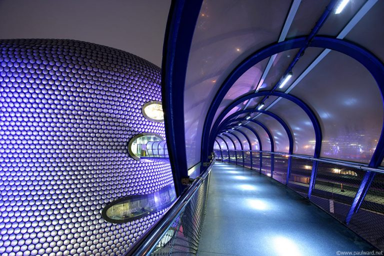 Selfridges walkway by Birmingham architectural photographer Paul Ward