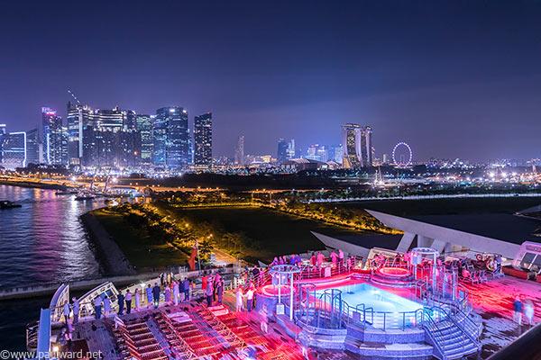 Singapore skyline by Birmingham travel photographer Paul Ward