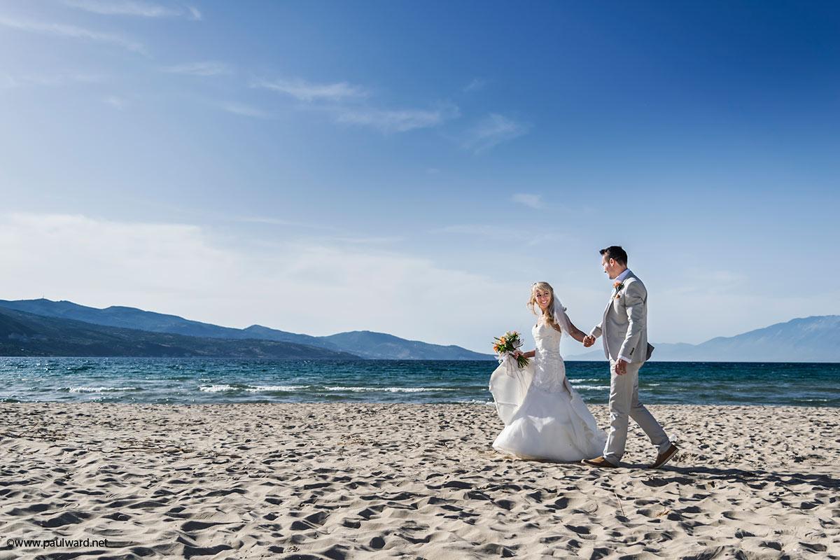 Zante beach wedding photography by Birmingham photographer Paul Ward