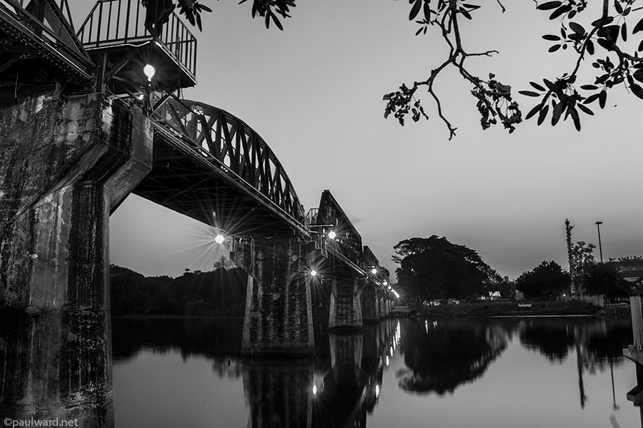 Bridge over the river Kwai by Birmingham travel photograpger Paul Ward