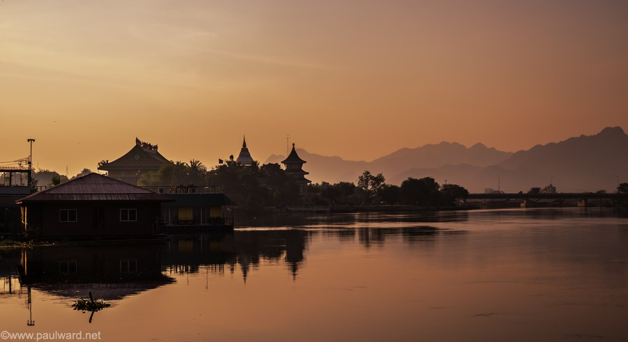 River kwai thailand by Birmingham travel photographer Paul Ward