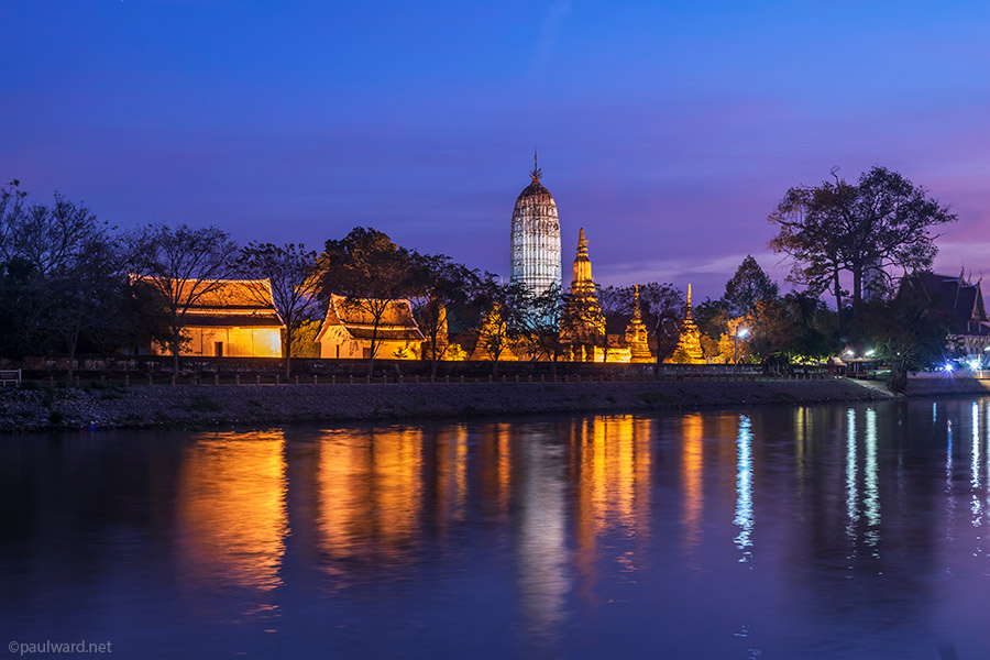 sunset Ayutthaya thailand by Birmingham travel photograpger Paul Ward