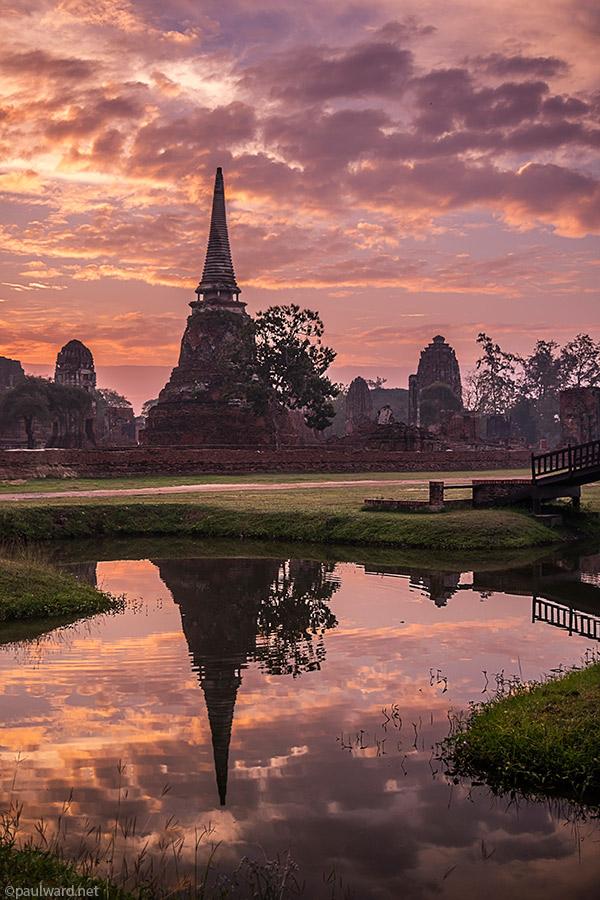 Ayutthaya sunrise Ayutthaya thailand by Birmingham travel photograpger Paul Ward