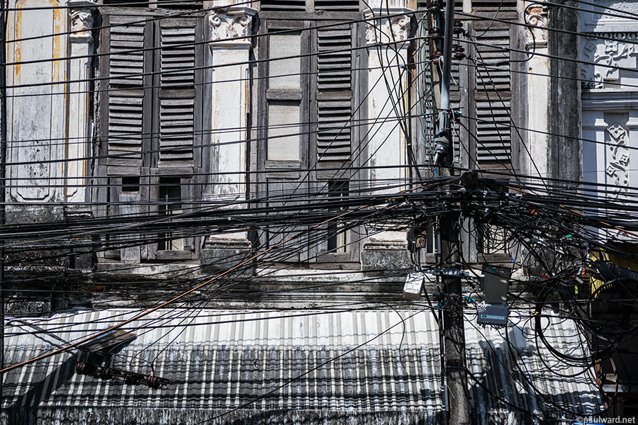 wires old phuket by travel photographer Paul Ward
