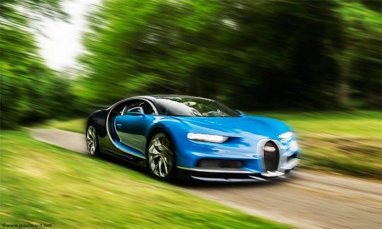 Bugatti Chiron at Prescott Hill climb