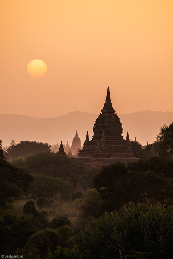 myanmar sunset landscape photography by Travel Photographer Paul Ward
