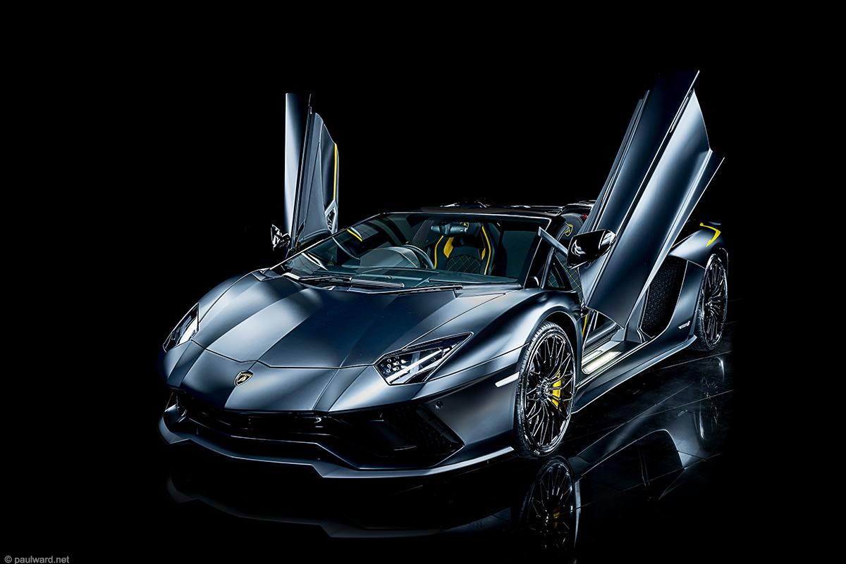 Lamborghini Aventador s car photography by Paul Ward