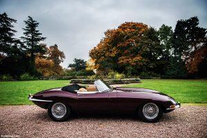 E type Jaguar location shoot