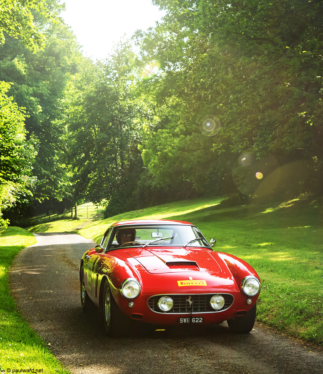Ferrari 250 SWB at Prescott hill climb photograph by automotive photographer Paul Ward