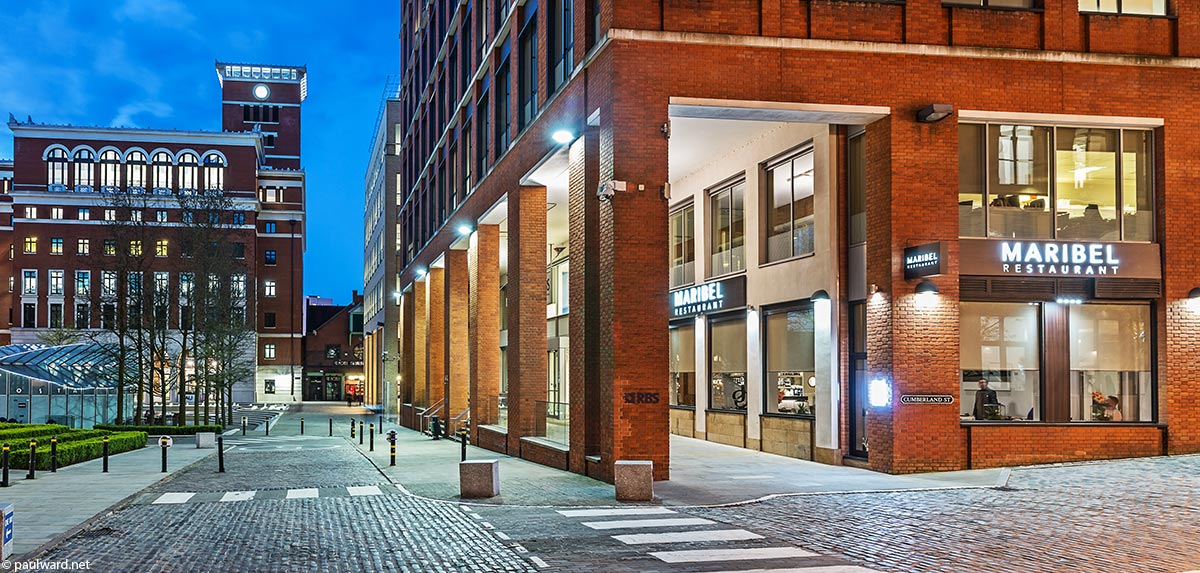 Maribel restaurant exterior architecture photography by Birmingham photographer Paul Ward