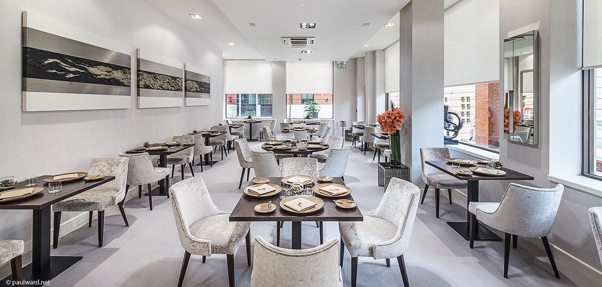 Maribel restaurant interior architecture photography by Birmingham photographer Paul Ward