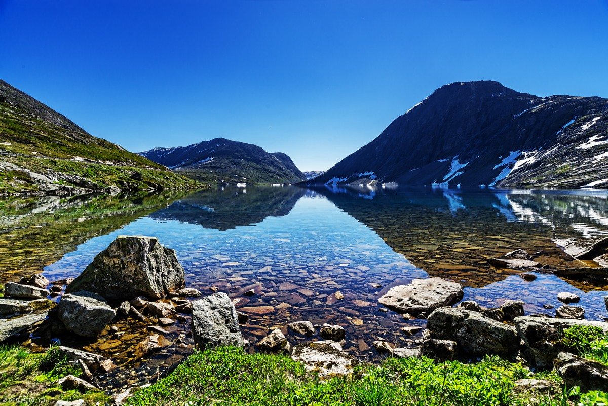 Geiranger lake, Norway, landscape photography by Travel Photographer Paul Ward