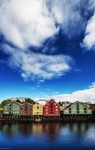 Norwegian houses, landscape photography by Travel Photographer Paul Ward