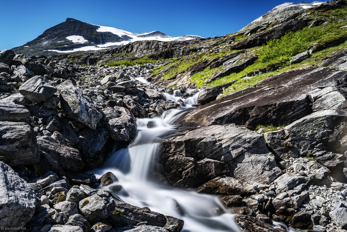 Waterfall, Norway, landscape photography by Travel Photographer Paul Ward