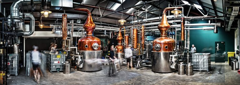 Sipsmith distillery, commercial photography by Paul Ward