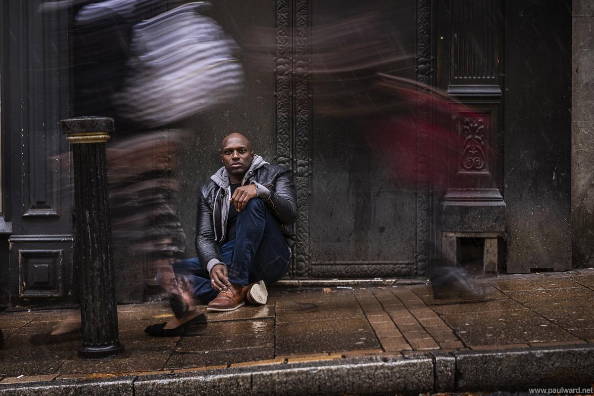Phillip Browne shame about the rain, photo by birmingham portrait photographer Paul Ward
