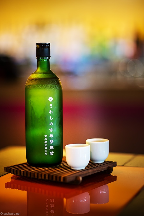 Sake bottle, drinks by product photographer Paul Ward