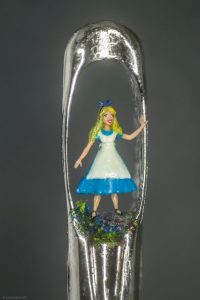 Willard Wigan micro artist Alice photo by Paul Ward