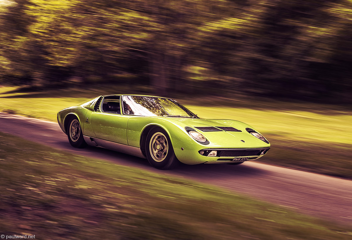 Lamborghini Miura green car photography by Paul Ward limited edition prints from limited100