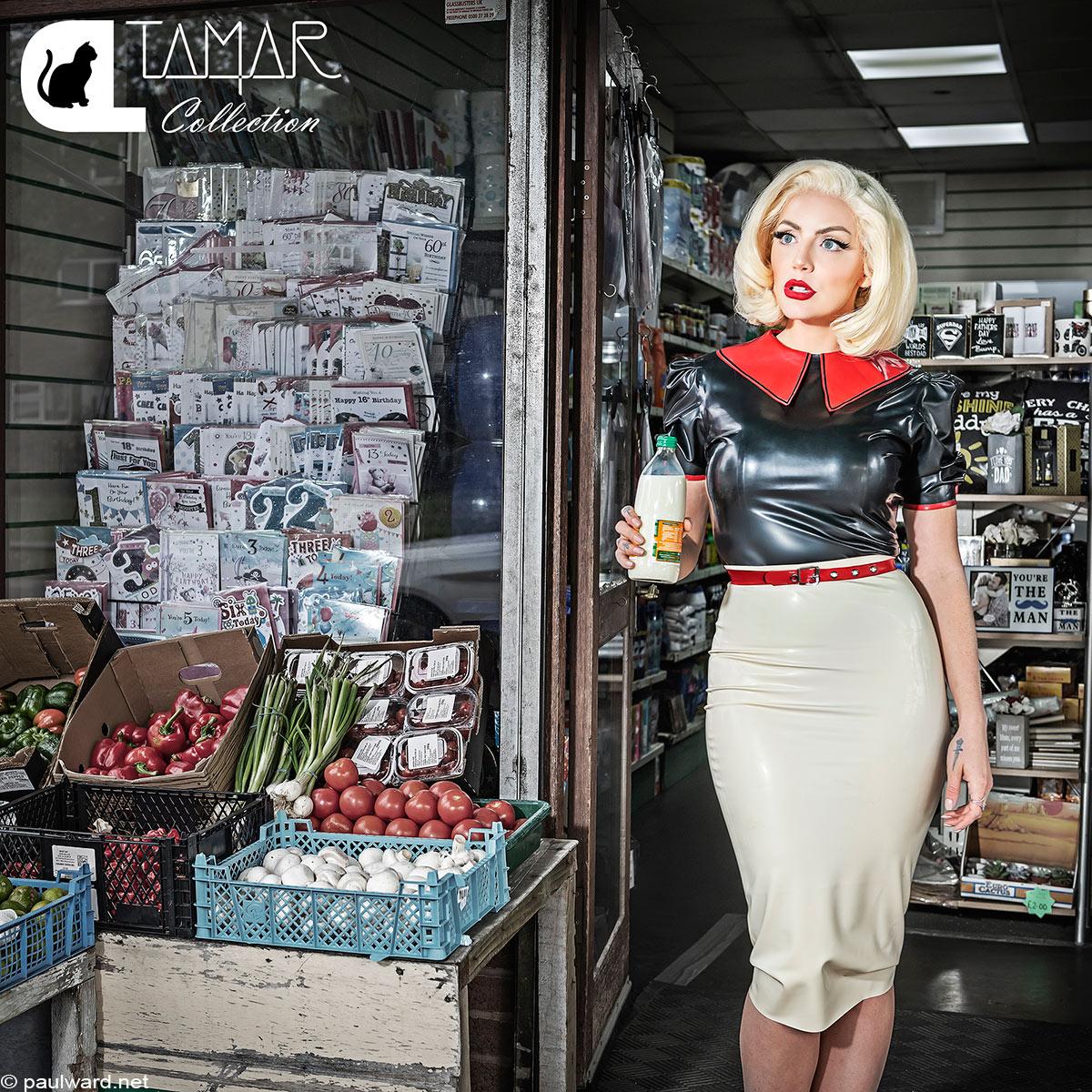 Fashion photography for Catalyst Latex featuring Tamar Roxx by Birmingham photographer Paul Ward