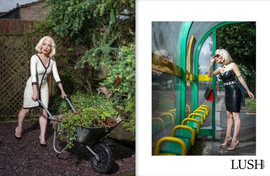 Latex fashion 2 for Lush Mode Magazine, Fashion photography for Catalyst Latex featuring Tamar Roxx by Birmingham photographer Paul Ward