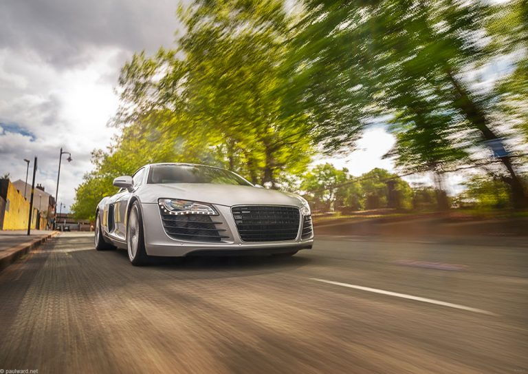 Audi R8 automotive photography by Birmingham car photographer Paul Ward