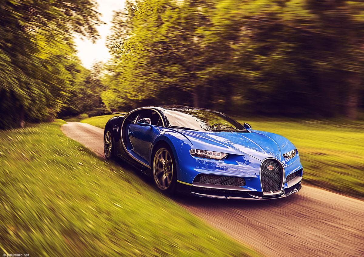 Bugatti Chiron automotive photography by Birmingham car photographer Paul Ward