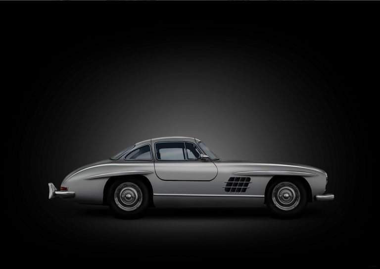 Mercedes 300SL car artwork by Birmingham car photographer Paul Ward, classic cars