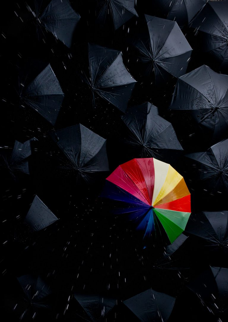 Umbrella Creative shoot for Digital SLR photography magazine by creative photographer Paul Ward