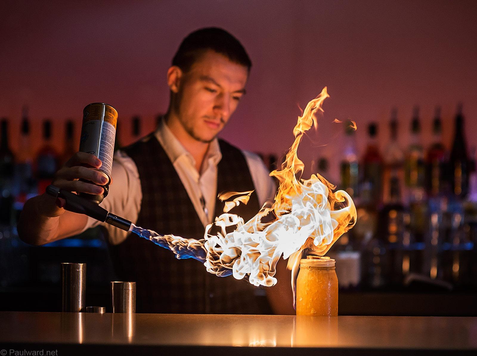 Barman, Portrait photographer Birmingham, award winning photography by Paul Ward