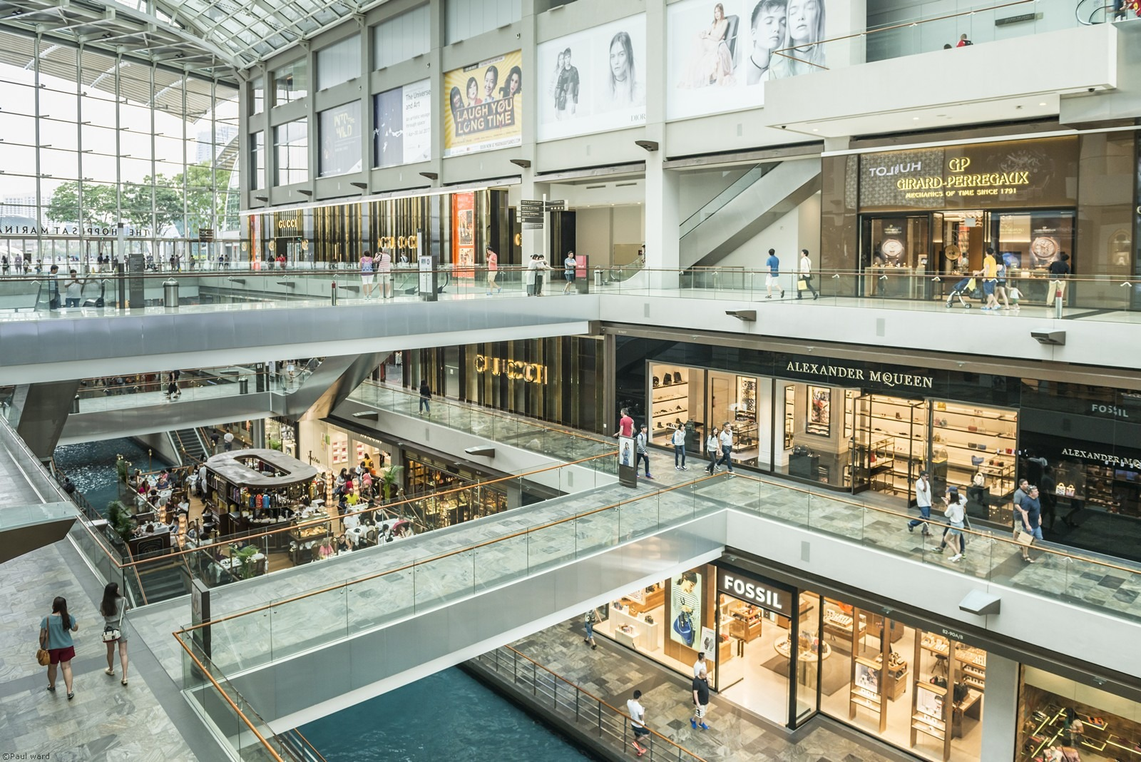 Singapore shopping mall by architectural photographer Paul Ward