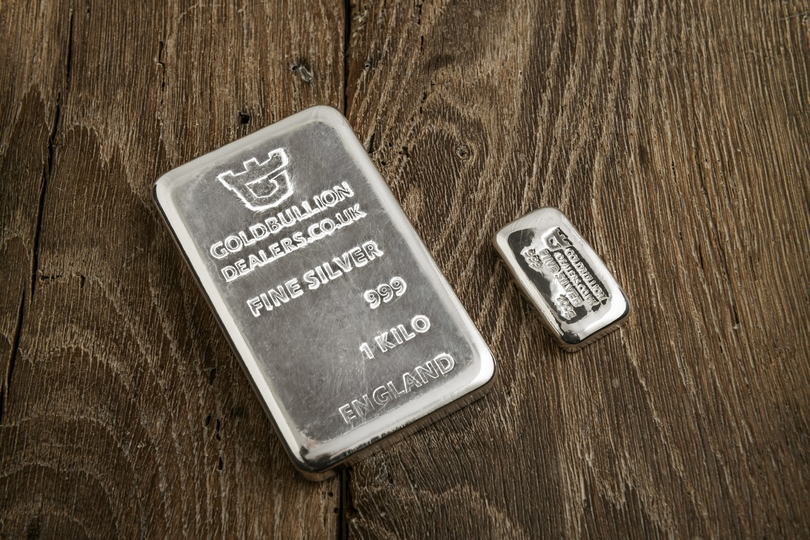 Silver bars product photography by Birmingham Photographer Paul Ward