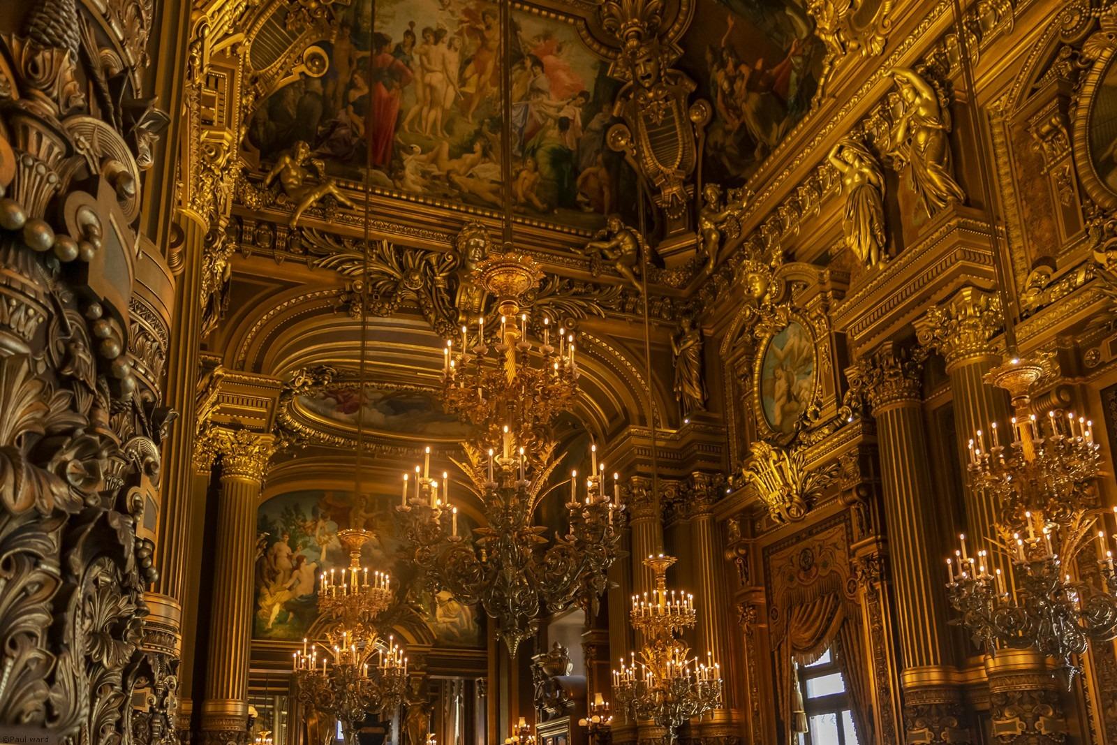 Palais Garnier interior roof Paris by architectural photographer Paul Ward
