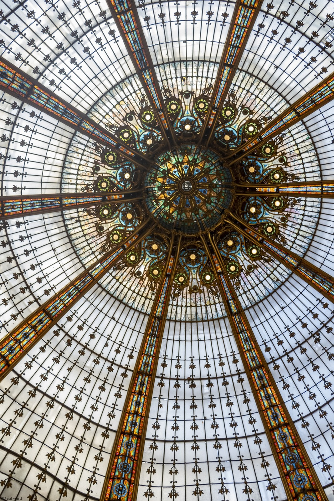 Galeries Lafayette Paris by architectural photographer Paul Ward