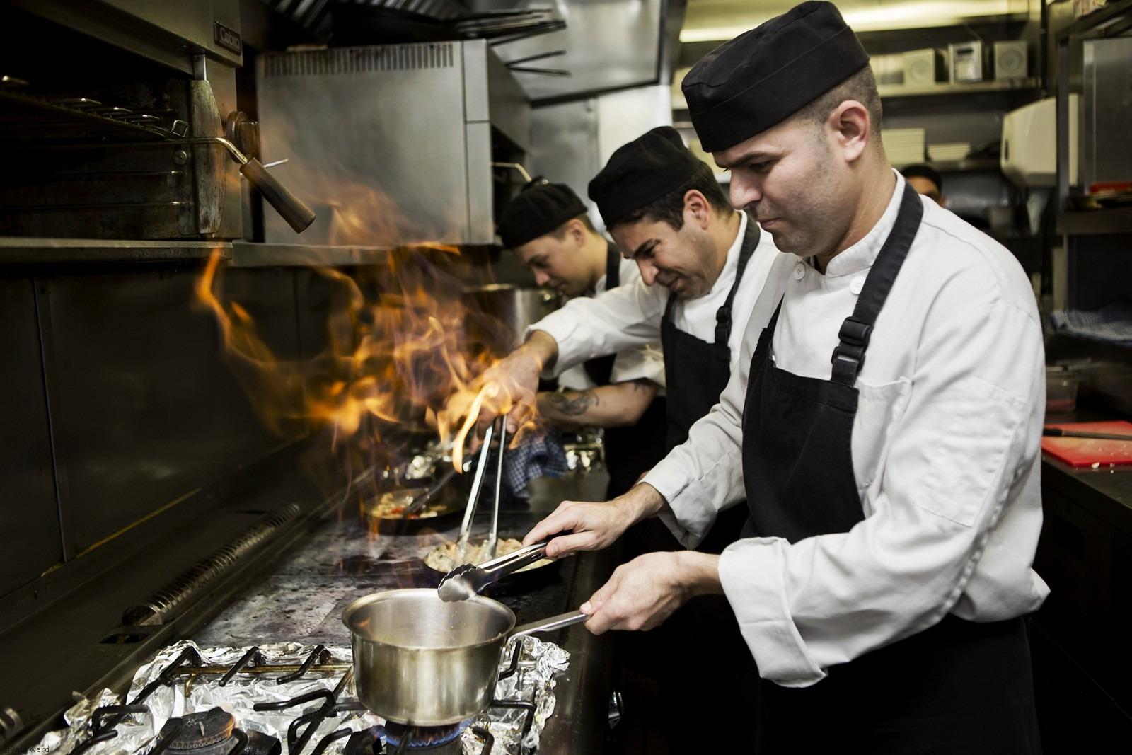 Chefs at work by Birmingham portrait photographer Paul Ward