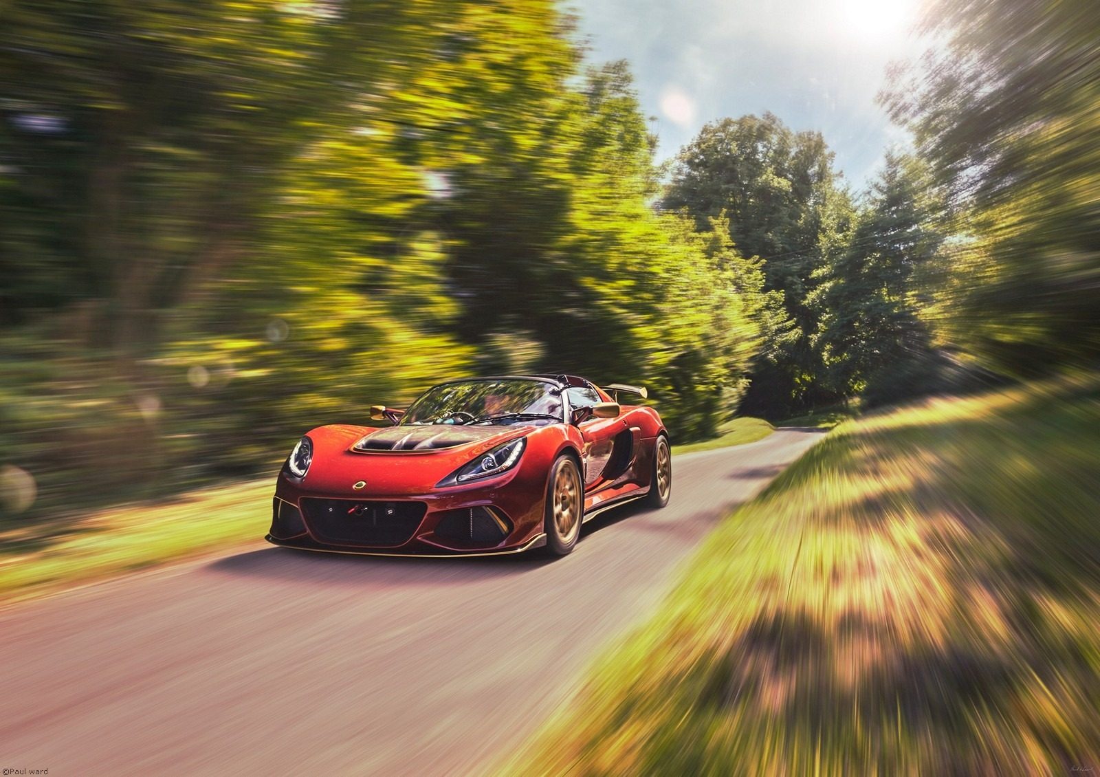 Lotus Exige car by Birmingham car photographer Paul Ward
